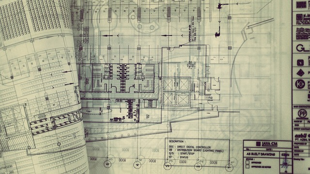 commercial building blueprint
