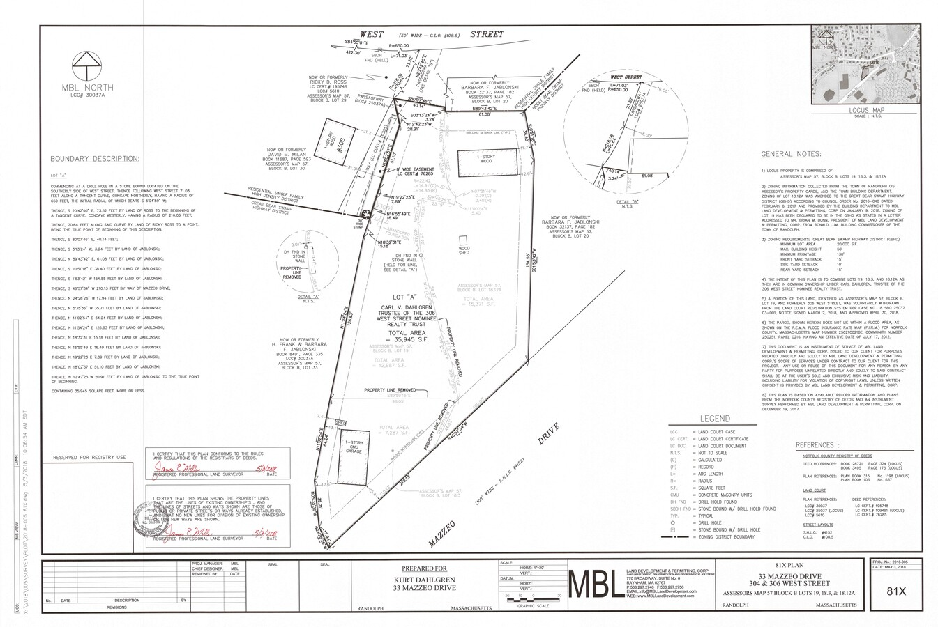 33 Mazzeo Plot Plan